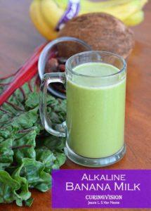 Alkaline Diet Banana Milk Recipe