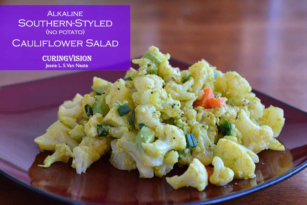 Alkaline Diet Southern-styled No Potato Cauliflower Salad