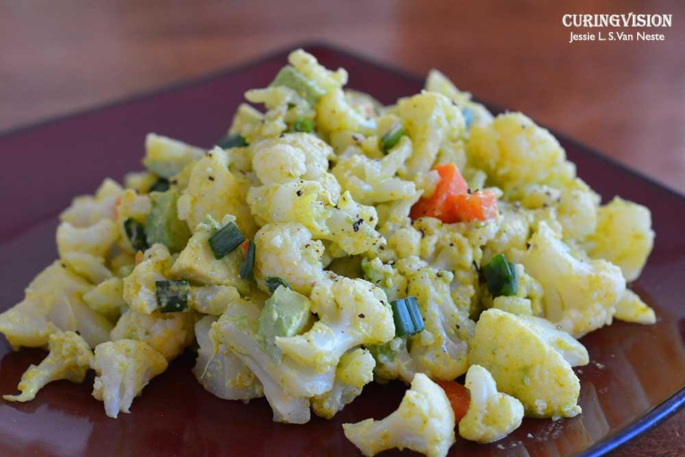 Alkaline Diet Southern-styled No Potato Cauliflower Salad