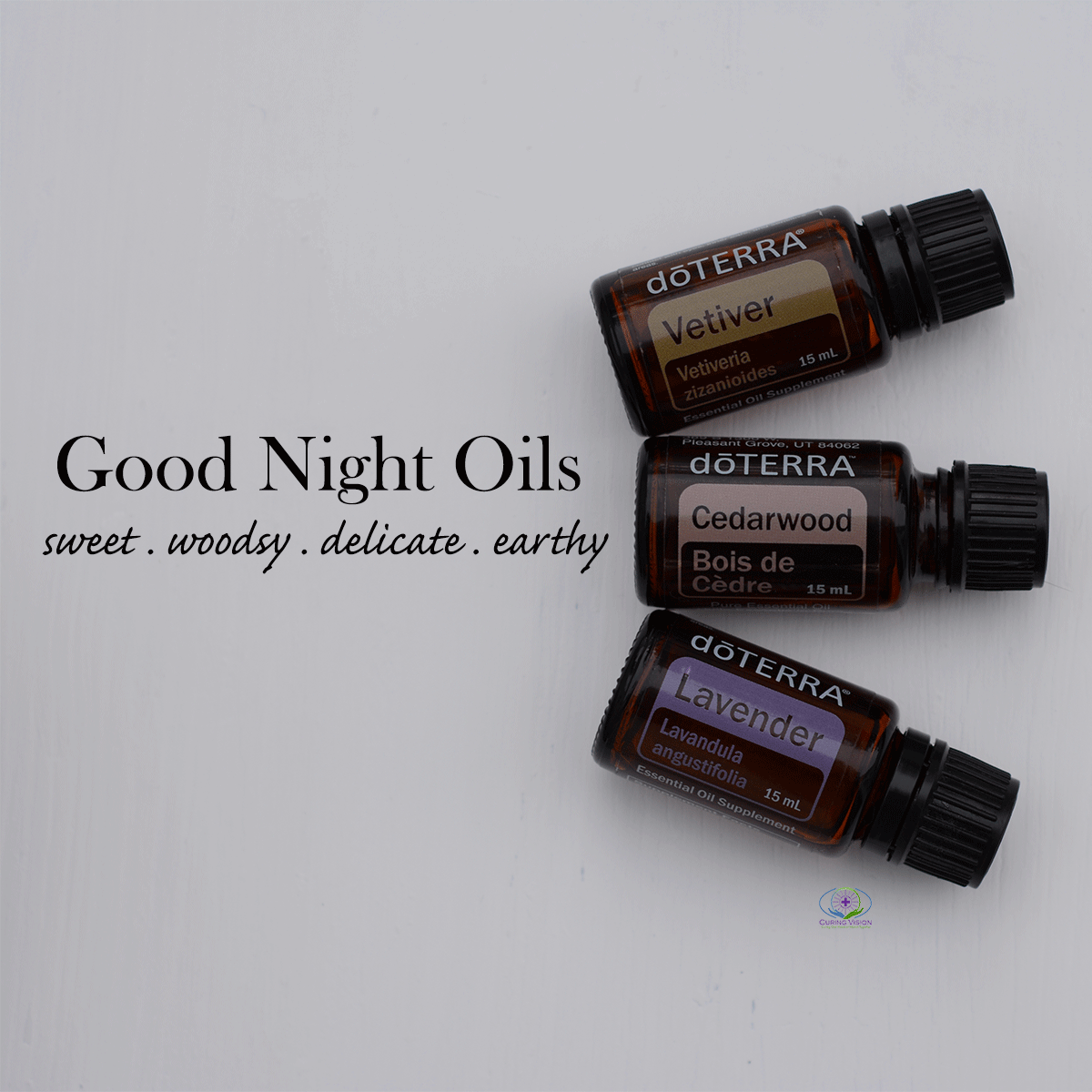 Good Night Oils Cedarwood Vetiver Lavender Curing Vision