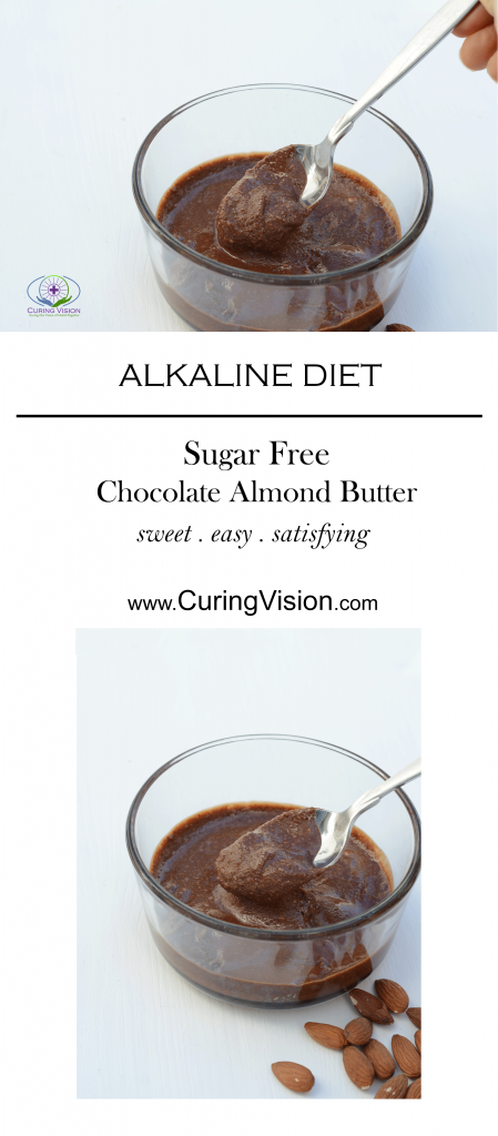 Sugar Free Chocolate Almond Butter recipe for Alkaline Diet, Wahls Protocol, Paleo Diet, AIP Diet. This recipe is quick and easy to make.