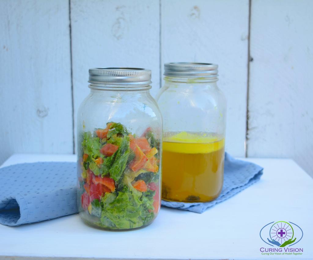 Salad and Bone broth blended meal for Alkaline Diet, Wahls Protocol, Blended Meals, Tubefed Meals, Paleo Autoimmune, Gut Healing, Bone Broth Diet