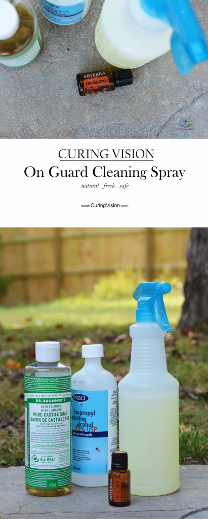 How to Make a Multi-Purpose House Cleaning Spray with doTERRA On Guard Protective Blend essential oils recipe