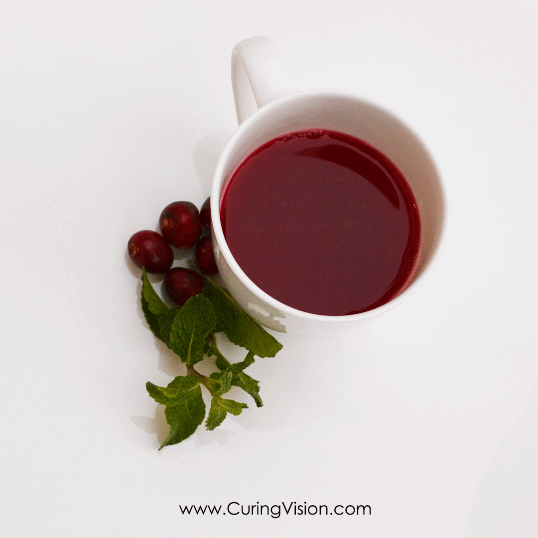 Cranberry Detox Herbal Tea to support liver and kidney health