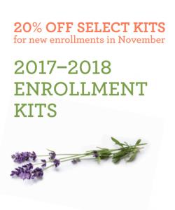 November 2017 doTERRA Enrollment Kit 20% off Sale CuringVision.com