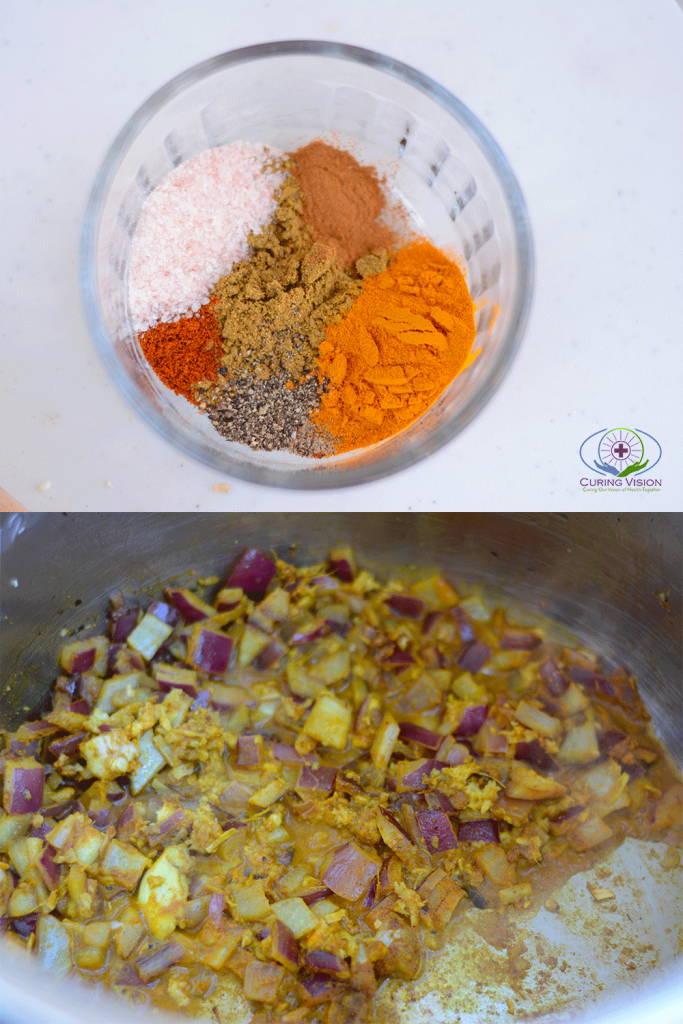Cauliflower Curry Spice Vegetables Instant Pot Meal for Alkaline Diet, RV Living, Wahls Protocol, AIP Diet, Paleo, Vegan