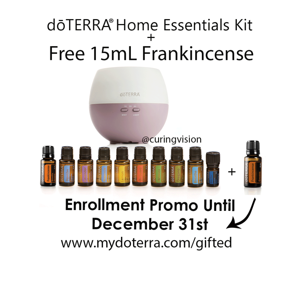 Save over $155 when you order the doTERRA Home Essentials Kit and get a Free 15mL bottle of Frankincense Essential oil. This sale is valid only during December 2017, click to learn how to order today.