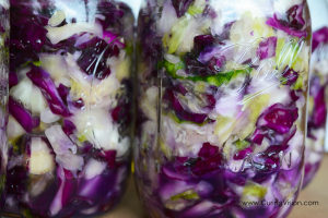 Homemade sauerkraut is easy to make using this recipe. Only two ingredients needed, cabbage and sea salt. Use this recipe to make your own complex probiotic and vitamin C supplement to top most any meal. Suitable for the Alkaline Diet, Whole30 Diet, Keto Diet, Wahls Protocol, Vegan Diet, and Clean Eating.