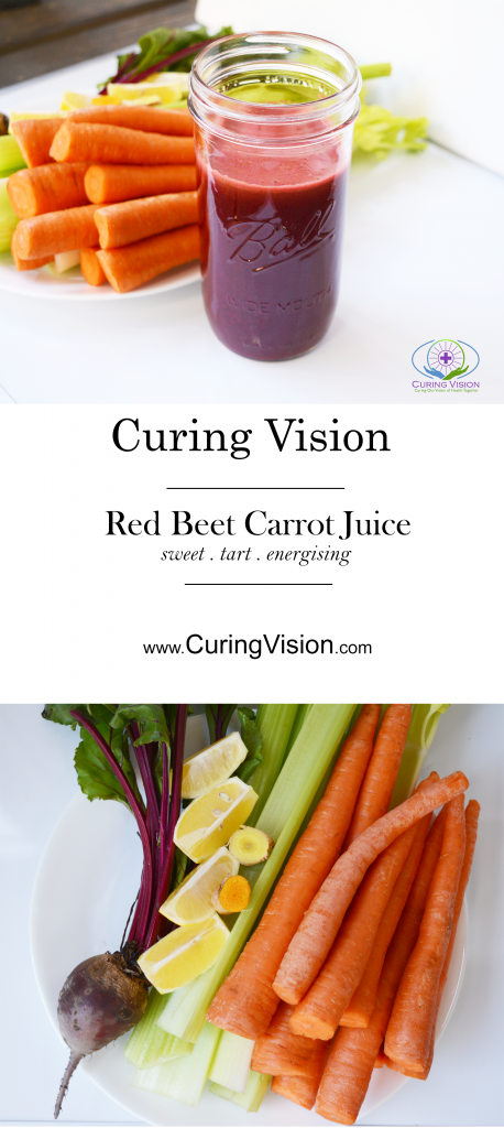 Drinking fresh pressed vegetable juice is an easy way to eat all of your veggies for the day. Are you looking for a foundational juice recipe to support good health? This red beet carrot juice recipe is perfect for the Alkaline Diet , The Wahls Protocol, Paleo AIP, Autoimmune Disease Protocol, and Leaky-gut Health.