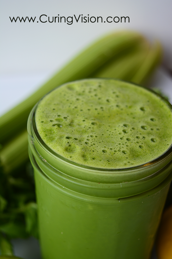 This is a simple to make and refreshing green juice recipe. Drinking fresh pressed vegetable juice is an easy way to eat all of your veggies for the day. This recipe is suitable for a Juice Fast or Feast, the Alkaline Diet, The Wahls Protocol, Paleo AIP, Autoimmune Disease Protocol, and Leaky-gut Health. The juice ingredients support cellular and joint health.